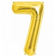 Rakam Folyo Balon 7 Rakamı Büyük Boy Balon Altın Sarısı/Dore 100CM