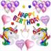 Rengarenk Unicorn Balon Seti, Tek Boynuzlu At Doğum Günü Balonu
