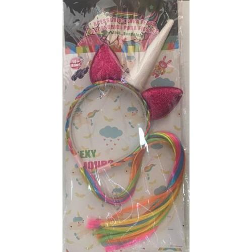 Rengarenk Unicorn Tek Boynuzlu Taç My Little Pony Doğum Günü Tacı