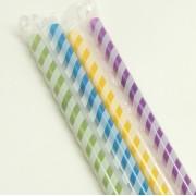 Renkli Pipet Partiler için Rengarenk 50 ADET doğum günü 25cm