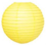 Sarı Kağıt Japon Feneri Dekorasyon Süslemesi, 30x30 cm Küçük