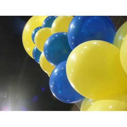 Sarı Lacivert Baskısız Balon 25 25 Toplam 50 Adet