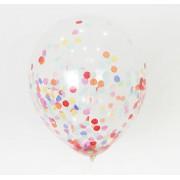 Şeffaf Balon içi Renkli Konfeti, Benekli Pul Süslemesi