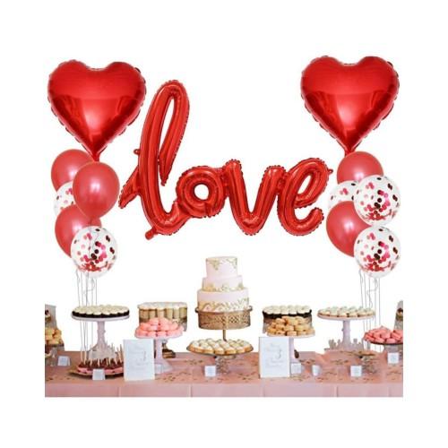 Sevgililer Günü 14 Şubat Dekorasyon Seti, Romantik Doğum Günü