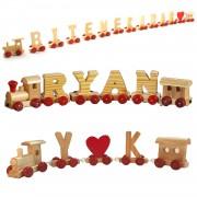Sevgiliye değişik hediye, ahşap isim treni, harf, kalp, sürpriz
