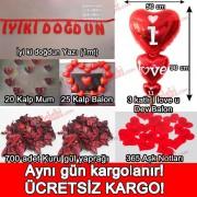 Sevgiliye Doğum Günü Dekorasyonu Ev, Masa Süslemeleri Paketi
