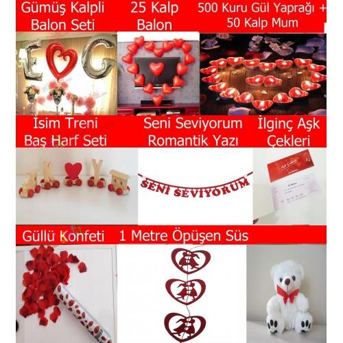 Sevgiliye Doğum Günü Dekorasyonu, Ev Mekan Süsleme Süpriz Paket