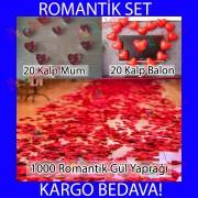 Sevgiliye Doğum Günü Süprizi Oda Mekan Süsleme Hazırlık Paketi
