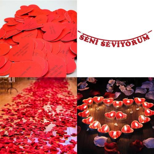 Sevgiliye Eşe Evlilik Yıldönümü Kutlama Sürprizleri Süsleme Paket
