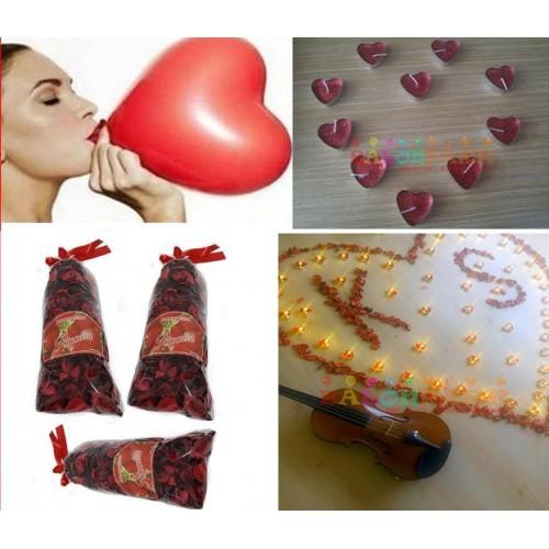 Sevgiliye Sürpriz Doğum Günü Oda Hazırlama, Masa Süsleme Paketi