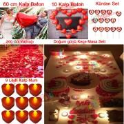 Sevgiliye Sürpriz Doğum Günü, Romantik Süsleme Hazırlık Paketi