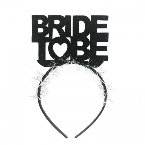 Siyah Bride To Be Yazılı Taç, Bekarlığa Veda Partisi için Taç