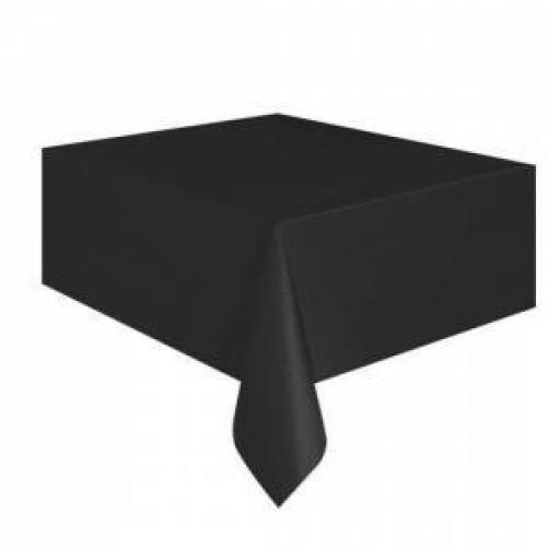 Siyah Düz Masa Örtüsü 1.37mt x 2.7mt doğum Günü Parti Ucuz