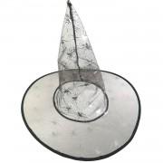 Siyah Gümüş Cadı Şapkası, Cadılar Bayramı Halloween Kostüm Partisi