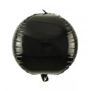 Siyah Küre Şeklinde Folyo Balon, Yuvarlak Helyumla Uçan