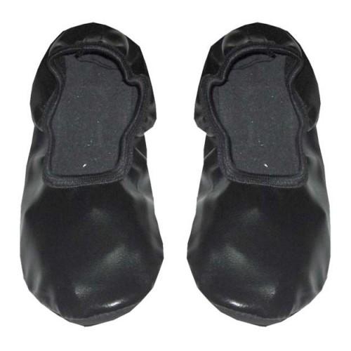 Siyah Pisi Pisi Bale Ayakkabısı, Balerin Gösteri Babeti