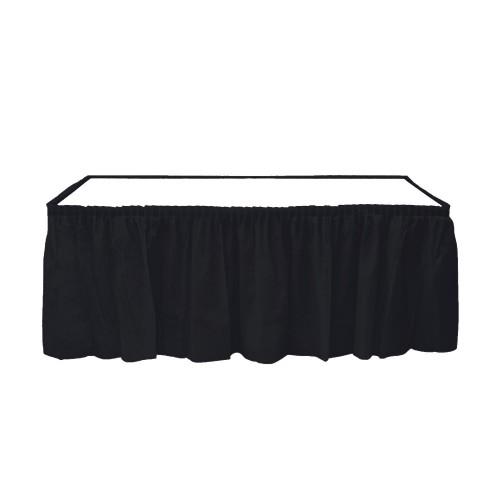 Siyah Table Skirt Masa Eteği 74 x 4.26 cm Doğum Günü Parti Ucuz