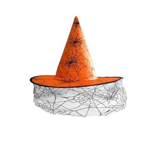 Siyah Tüllü Cadı Şapkası Halloween Partisi , Cadılar Bayramı