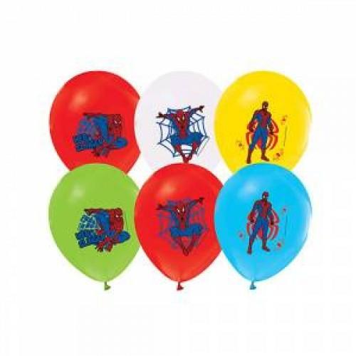 12li Örümcek Adam Doğum Günü Balonu, Karışık Balon, Helyumla Uçan