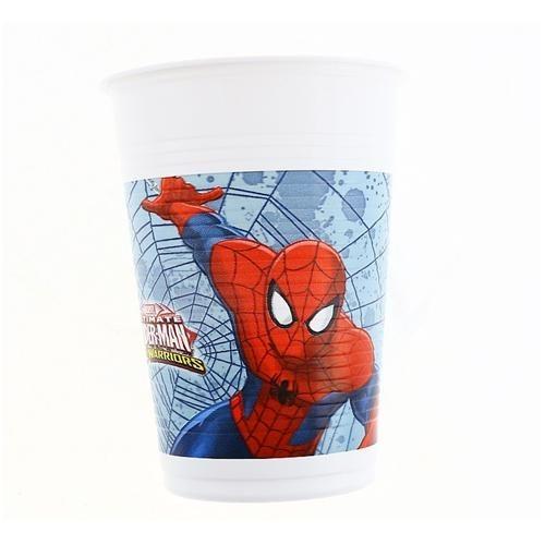 Spiderman 8li Bardak Örümcek Adam Doğum Günü Parti Bardağı 200ml