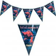 Spiderman Flama Örümcek Adam Doğum Günü Parti Flaması 2mt