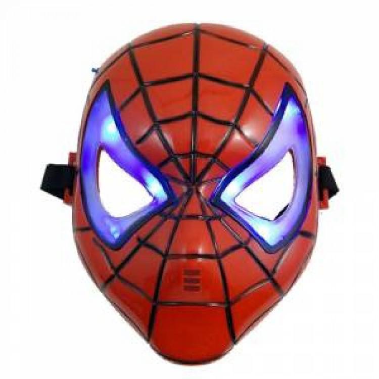 Spiderman Işıklı Maskesi örümcek Adam Doğum Günü Işıklı Maskeleri
