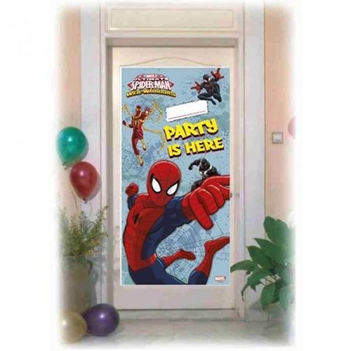 Spiderman Parti Afişi 76cmx156cm Örümcek Adam Doğum Günü Afişleri