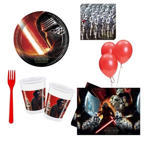Star wars 8 Kişilik 6 Parça Doğum Günü Seti malzemeleri yıldız savaşları