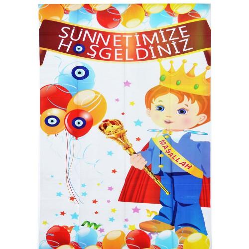 Sünnetimize Hoş Geldiniz Kapı Afişi Posteri Sünnet Mevlüt Süsleri