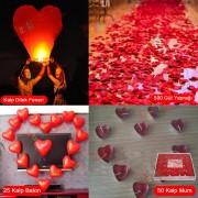 Sürpriz Evlilik Teklifi Hazırlığı, Romantik Mekan Masa Süslemesi