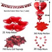 Sürpriz Evlilik Teklifi, Romantik Mekan Süsleme Hazırlık Paketi