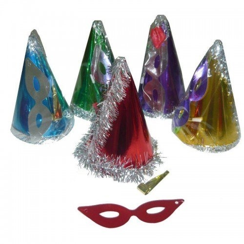 10 Adet Şapka + Maske + Düdük Set Doğum Günü, Parti, Yılbaşı vb.)