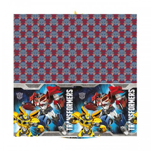 Transformers 120cm x 180cm Masa Örtüsü Bumblebee Doğum Günü