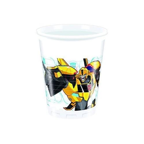 Transformers 8li Bardak Bumblebee Optimus Prime Doğum Günü Parti Bardağı