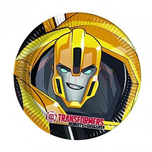 Transformers 8li Tabak Bumblebee Optimus Prime Doğum Günü Parti Tabağı
