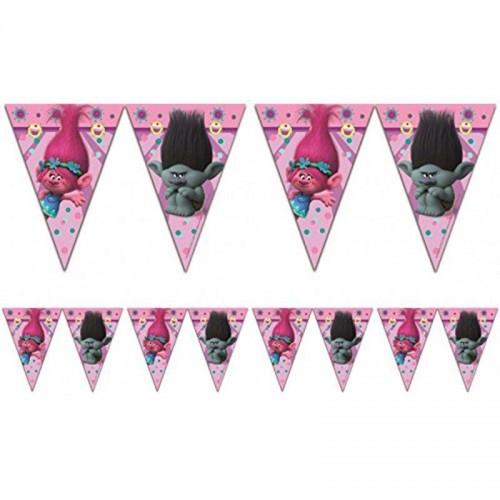 Troller Bayrak Flama, 2 m Trolls Doğum Günü Parti Malzemeleri
