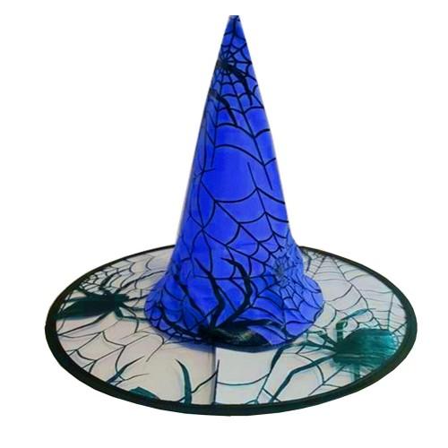 Mavi Halloween Cadı Şapkası, Cadılar Bayramı Partisi Kostüm