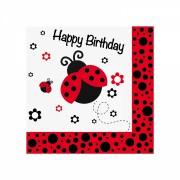 Uğur Böceği 20li Peçete 33x33cm Doğum Günü Parti Ucuz Konsept