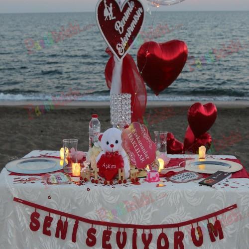 53 Parça Evlilik Teklifi Malzemeleri Seti (Evlenme Teklif Paketi)