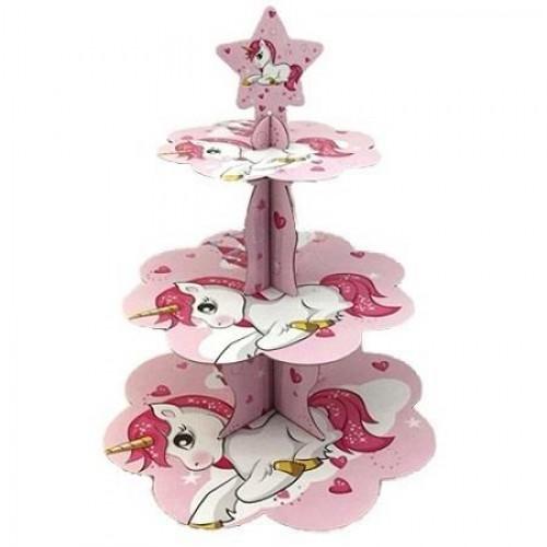 Unicorn Cupcake Stand, Doğum Günü Standı