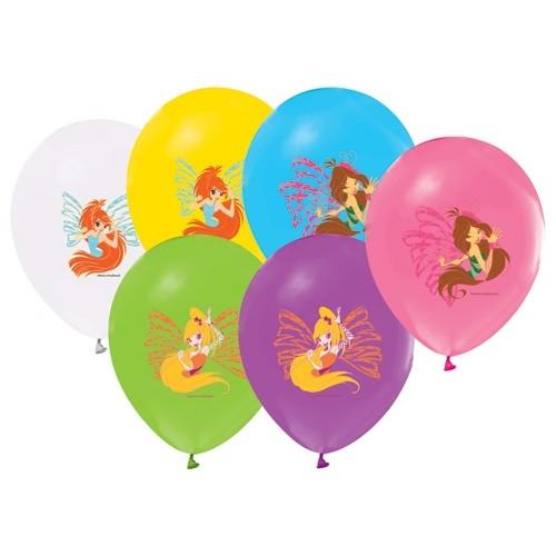 Winx 12li Karışık Balon, Winks Doğum Günü Partisi, Helyumla Uçan