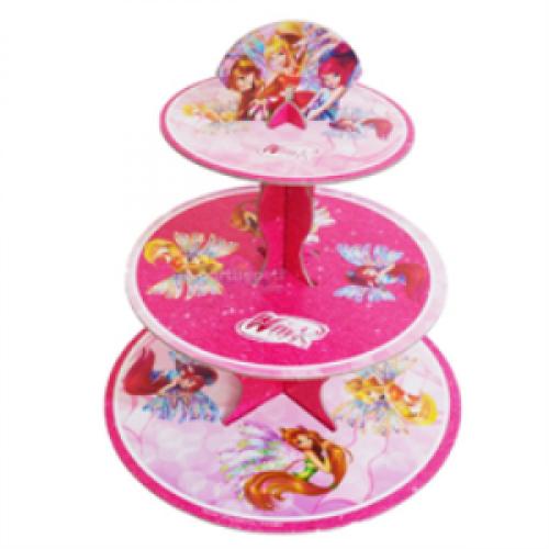Winx 3 Katlı Cupcake Standı Doğum Günü Parti Kek Stant Ucuz WİNKS