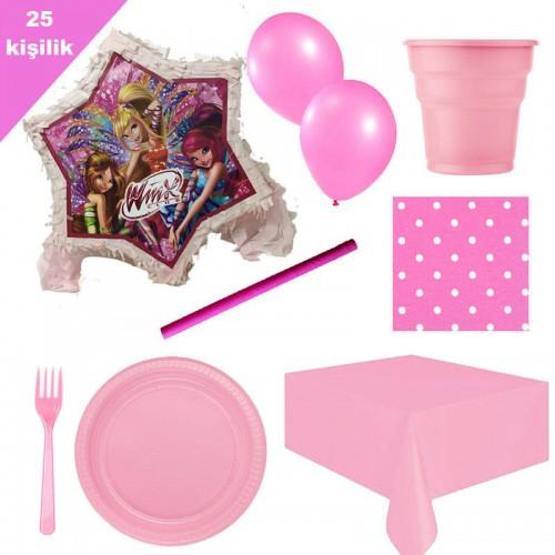 Winx Pinyata 25 Kişilik Parti seti balon doğum günü winks