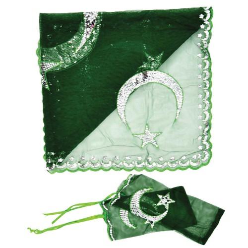 Yeşil Damat, Sünnet Kına Yüz Örtüsü Duvağı Seti