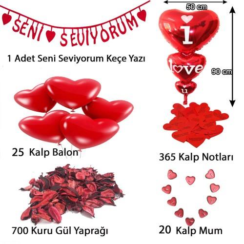 Yıl Dönümü Sürpriz Süsleme Paketi, Yıldönümü Romantik Süsleme Aşk